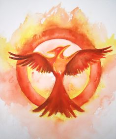 8x10 This is an original watercolor painting. Image measures 8x10 This watercolor painting is for the Hunger Games enthusiast in your life! This