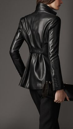 Fitted Nappa Leather Jacket | Burberry