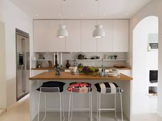 """""""We have an open concept kitchen connected to the living room, and we love to cook and entertain there,"""" says Alahuhta-Kasko."""