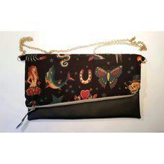 Pochette sailor jerry #bag #handmadebySerena #diy   www.etsy.com/it/shop/HandmadebySerena