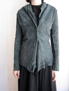 suede jacket and dress :: Hazel Brown
