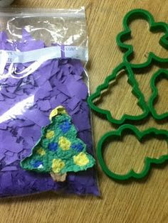 Paper Pulp Ornament -- Don't Throw away the tiniest of construction paper scrap!