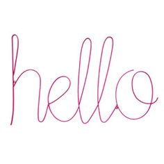 Hello Sign Magenta - Down To The Woods