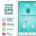 Berlin Guide: History multimedia Sightseeing Tour-GPS triggered with Offline Map-SD
