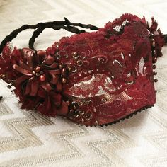 Copper Lace Mardi Gras Mask. Handmade from recycled materials by Joy Patterson