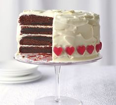 A beautiful chocolate sponge with buttercream icing - perfect for a romantic evening