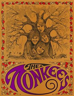 The Monkees poster Rock Posters, Band Posters, Vintage Concert Posters, Vintage Posters, Psychedelic Art, The Monkees, Up Girl, Vintage Design, Punk