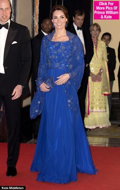 Kate Middleton Goes Bollywood Glam In Gorgeous Blue Gown For Party In India