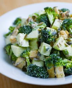 #salad #apple #brocoli #cheese #side #healthy #holiday #recipe #cooking #foodlavie Cheddar, Food La, Menu, Cheese, Apple, Vegetables, Recipe, Cooking, Healthy