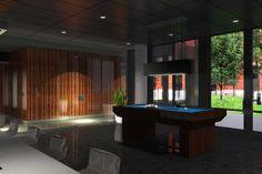 400 DOWD - Condos modernes au Quartier International Condos, Interior, Table, Home Decor, Decoration Home, Room Decor, Design Interiors, Interiors, Interior Design