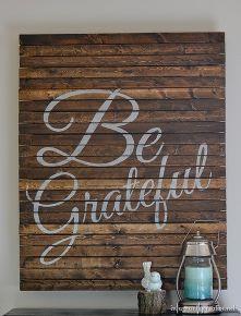 thanksgiving be grateful pallet art, crafts, pallet, seasonal holiday d cor, thanksgiving decorations