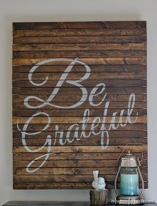 thanksgiving be grateful pallet art, crafts, pallet, seasonal holiday d cor, thanksgiving decorations
