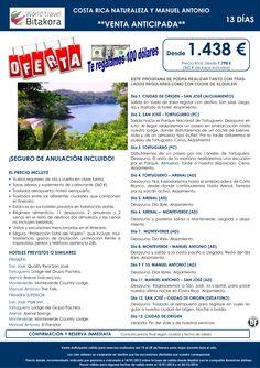 REGALAMOS 100 dolares. Costa Rica Naturaleza y Manuel Antonio desde1438€ + tasas ultimo minuto - http://zocotours.com/regalamos-100-dolares-costa-rica-naturaleza-y-manuel-antonio-desde1438e-tasas-ultimo-minuto/