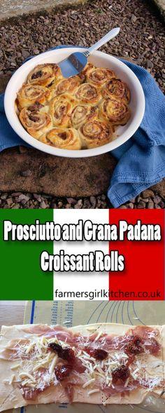 Quick and Easy Prosciutto and Grana Padana Croissant Rolls