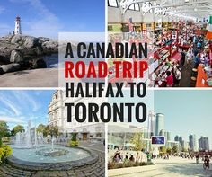 Road-trips are a fun way to visit different parts of the world. Here is our suggestion for a Canadian city road trip from Halifax to Toronto. East Coast Travel, East Coast Road Trip, Road Trip Map, Road Trip Hacks, Easy Rider, Quebec, Ottawa, British Columbia, Ontario