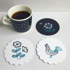 paper stitch 紙刺繍コースター