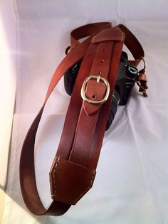 Handcrafted Leather Camera Sling Strap by hmcurriers on Etsy, $75.00