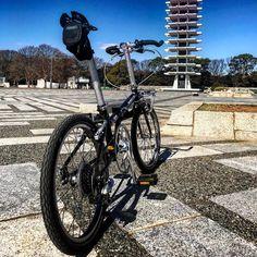 DAHON  boardwalk custom ちょぴちょぴいじってます。  #dahon #cycling #foldingbike #boadwalk #bicycle #bike #custombike #ぽたりんぐ #ダホン #自転車 #カスタム #旅 #改造自転車 #輪行 #青空 #公園