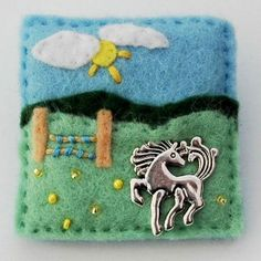 Horse brooch  pony  felt  badge by elliestreasuresuk on Etsy, £6.00