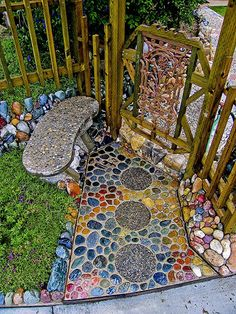 mosaic path  Very cool!