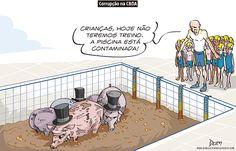 Charge do Dum (Zona do Agrião) sobre o escândalo na CBDA (07/04/2017) #Charge #Dum #CBDA #Natação #Confederação #Brasileira #Desportos #Aquáticos #ConfederaçãoBrasileiraDeDesportosAquáticos #CoaracyNunes #OperaçãoÁguasClaras #ÁguasClaras #Águas #Claras #HojeEmDia