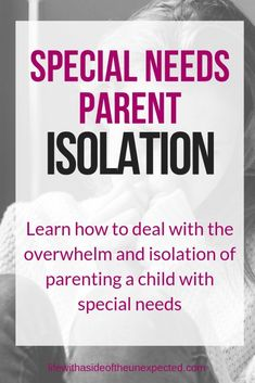 Being a special needs parent can feel lonely. Learn how to cope with special needs parent isolation. Tips for stress as an autism mom learning how to cope with parenting a child with a disability and more. Gentle Parenting, Parenting Quotes, Parenting Advice, Kids And Parenting, Autism Parenting, Parenting Issues, Funny Parenting, Special Needs Mom, Special Needs Resources