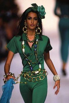 """allaboutchanel7: """" Yasmeen Ghauri @ Chanel RTW   Spring/Summer 1991 """""""