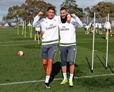 El Real Madrid completó dos intensas sesiones de entrenamiento en Melbourne.