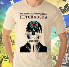 Vertigo Movie Poster on Men's Tee Shirt