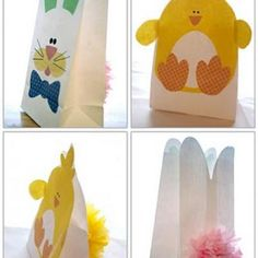 make cute bags like these for family memebers and kids can put there special crafts in there-like easter baskets for grandparents