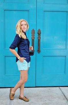 thoughtfulwish | blue outfit // j.mcglaughlin // scallop shorts // ralph lauren…