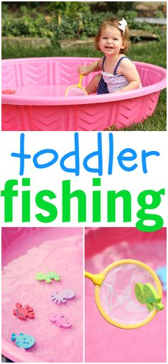 Toddler Fishing: Simple and fun summer activity for toddlers!Toddler Fishing: Simple and fun summer activity for toddlers!Fishing Toddler Fishing: Simple and fun summer activity for toddlers!Toddler Fishing: Simple and fun summer activity for toddlers! Toddler Play, Toddler Learning, Baby Play, Toddler Games, Infant Toddler, Toddler Exercise, Learning Activities, Toddler Girl, Sensory Activities
