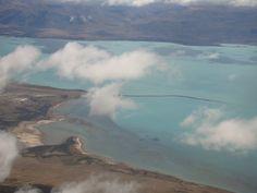 Lago Argentino - vista aérea chegando a Calafate