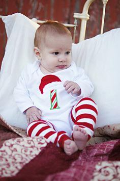 Personalized Baby's First Christmas Onesie by AddieKatShop on Etsy, $32.00