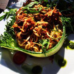 Raw food Zucchini pasta