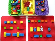 Learning Patterns with Lego/Duplo. Invitation to Complete the Pattern.