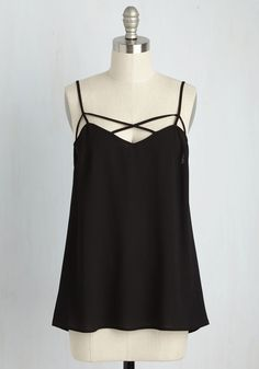 Transition Accomplished Top by ModCloth - Black, Solid, Party, Darling, Sleeveless, Summer, Good, Exclusives, Private Label, V Neck, Girls Night Out