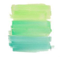 Aqua Ombre Watercolor Art Print Dip Dyed Art Green Turquoise Aqua... ($12) ❤ liked on Polyvore