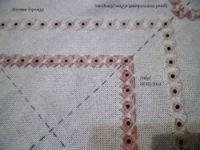 """Gallery.ru / """"Звездочки"""" вокруг центрального ромба - Пояснения по вышиванию Розовой дорожки Pink runner - Nikol-Vesna"""