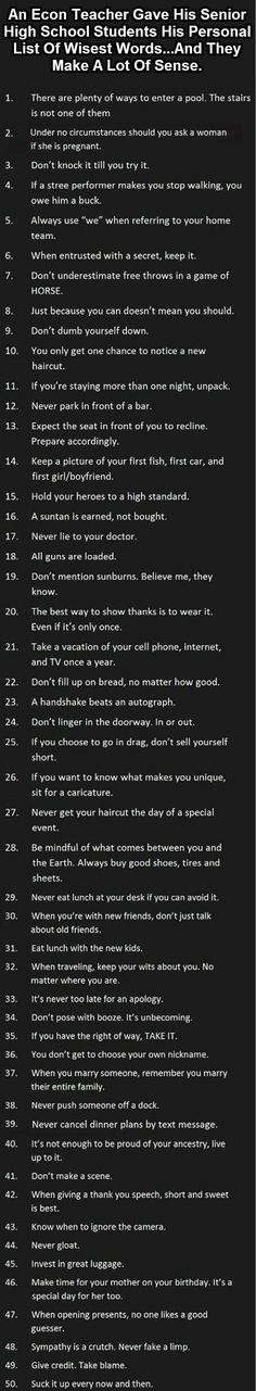Excellent advice. Would make a good printout to read often.