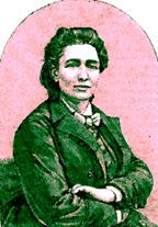 Portrait of Victoria Woodhull.  First woman to run for president