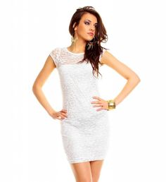 Witte gala jurk kort