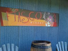 Fiasco Winery in the Applegate Valley, southern Oregon. Lots of big reds -- love the Super Tuscan!