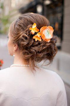 Pince à cheveux mariage avec fleurs d