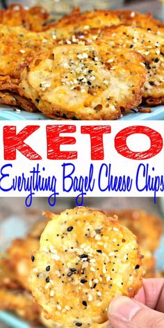 Keto Chips - BEST Low Carb Everything Bagel Cheese Chip Recipe {Easy - Homemade}! Fire up your ovens for these keto everything bagel chips that are so tasty & delicious. Quick keto everything bagel low carb recipes. Perfect keto everything bagel seasoning Keto Bagels, Keto Bread, Keto Pancakes, Sourdough Bread, Ketogenic Recipes, Low Carb Recipes, Diet Recipes, Healthy Recipes, Ketogenic Diet