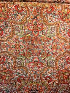 Square Indian Paisley shawl