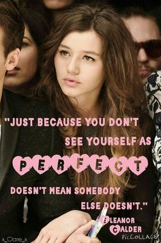 Eleanor Calder quote ❤️. Friday quote!! ❤️  ❄️12 days till Christmas Eve!❄️