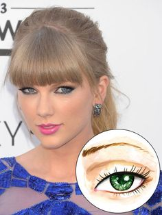 Deep set eyes, like Taylor Swift's, have a prominent brow bone and distinctive crease. This structure already creates a sultry shadow without any makeup!   - Seventeen.com