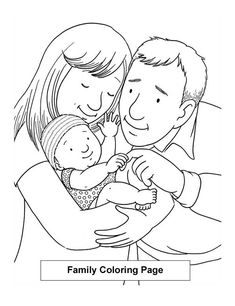 Family With One Kid Coloring Page : Coloring Sky Family Coloring Pages, Online Coloring, Kids Crafts, Folk, Sky, Ornaments, Illustration, Teachers, Heaven