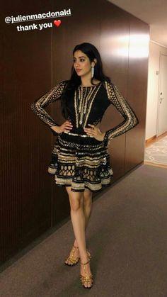 Jhanvi kapoor New Year Photos, Teenage Hairstyles, India Beauty, Bollywood Actress, Teenagers, Indian Actresses, Cute Dresses, Peplum Dress, Designers